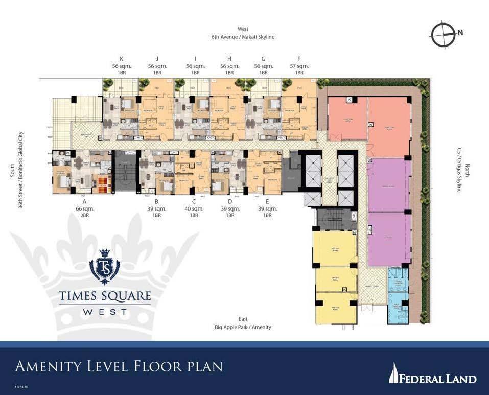 Amenity Level Floor Plan