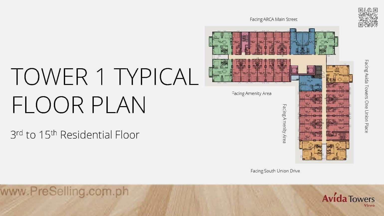 Avida Towers Vireo Floor Plan