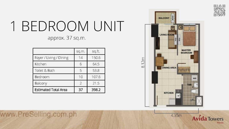 Avida Towers Vireo One Bedroom Unit