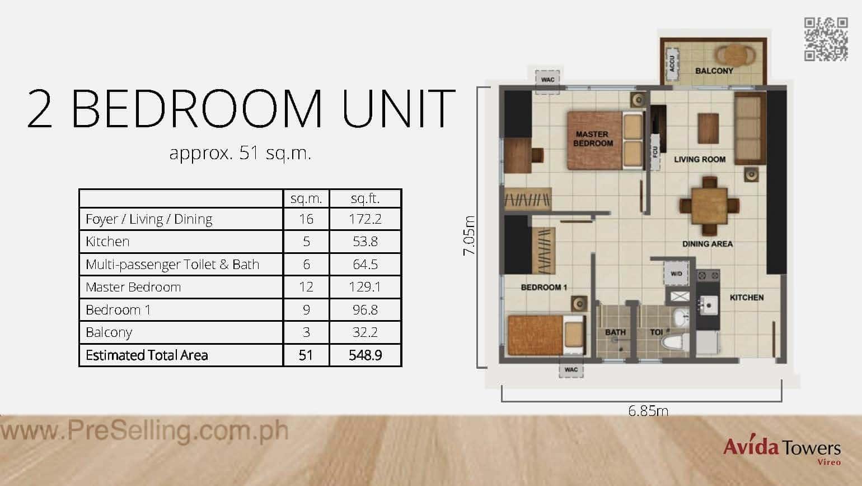 Avida Towers Vireo Two Bedroom Unit