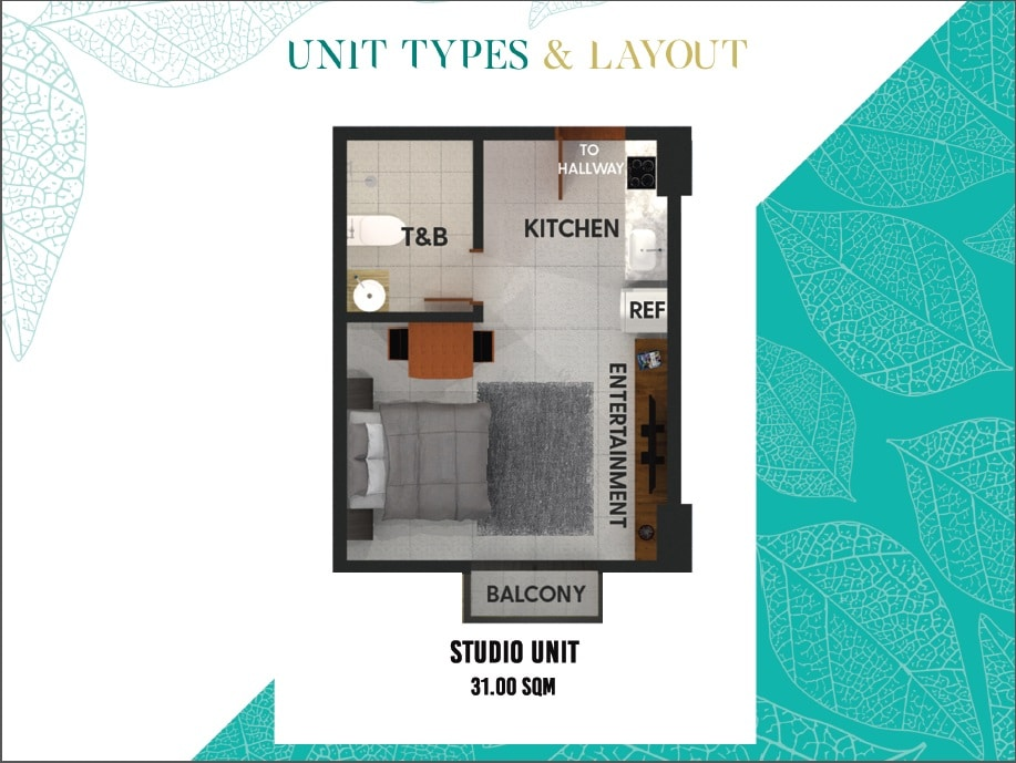 Zadia Studio Unit B Layout
