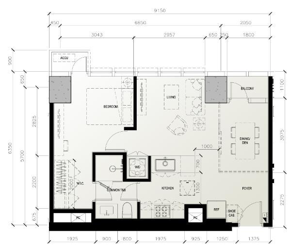 One Bedroom Unit - 60 sqm