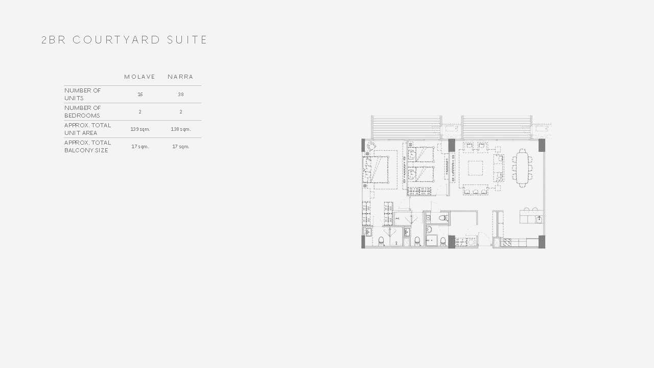 Two Bedroom Courtyard Suite