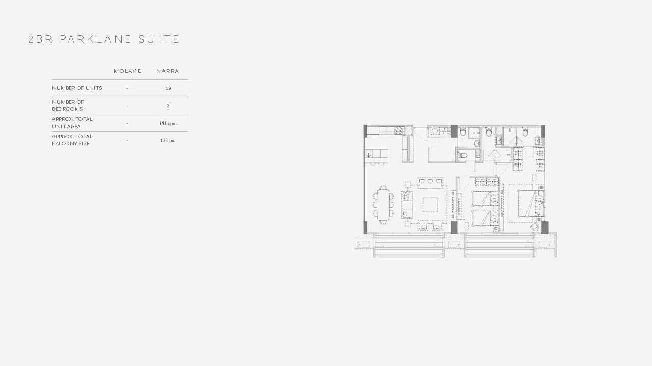 Two Bedroom Parklane Suite