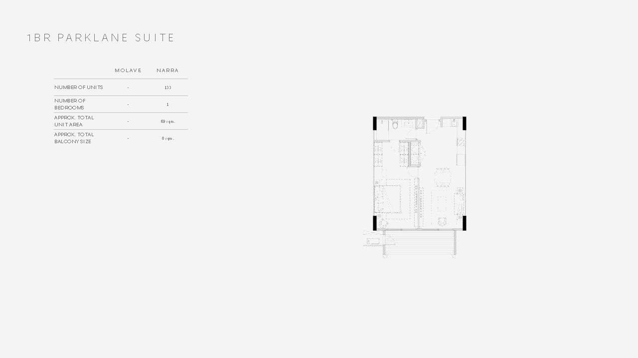 One Bedroom Parklane Suite