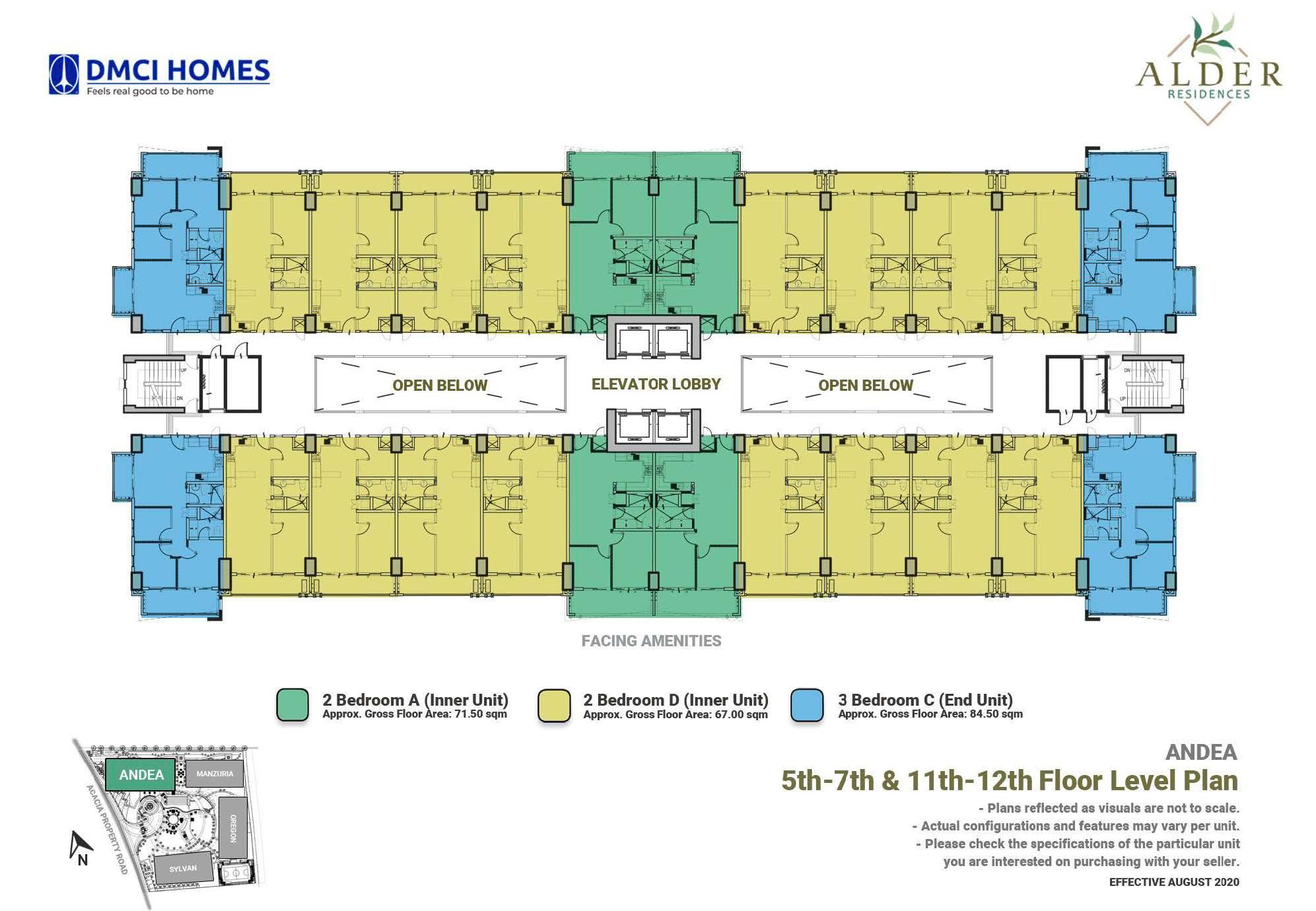 5th - 7th & 11th - 12th Level Floor Plan
